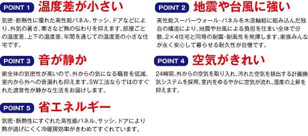 SSW 5つのポイント